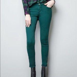 Trafaluc Zara   Emerald Skinny Jeans